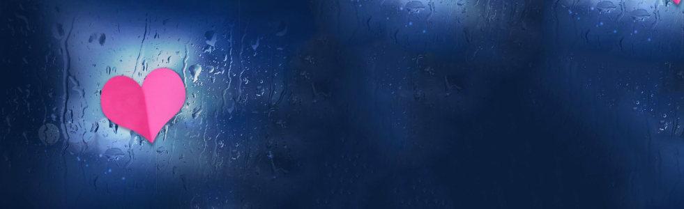 爱情雨滴唯美背景banner高清背景图片素材下载