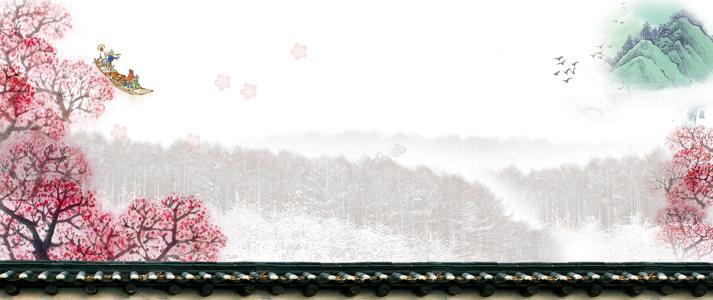中国风山水意境背景高清背景图片素材下载