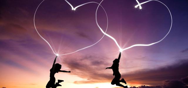 紫色浪漫唯美幸福情侣淘宝背景图