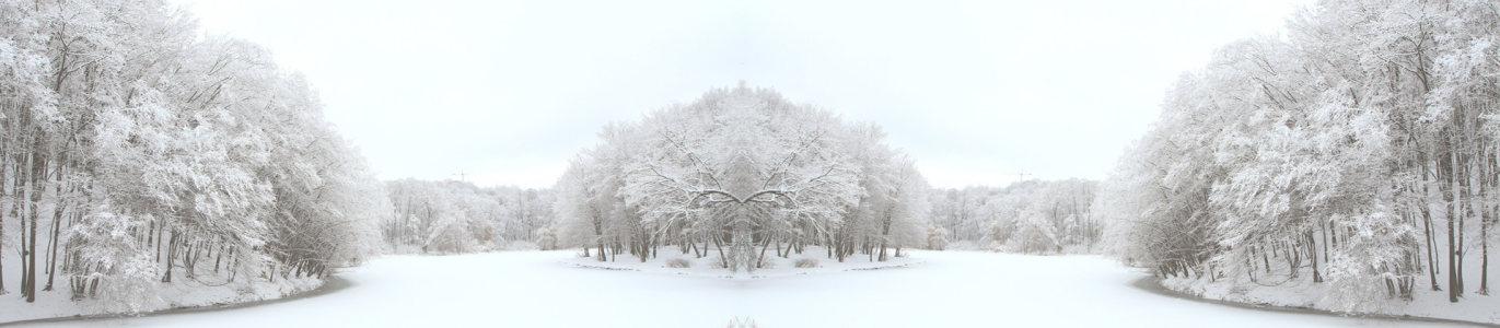电商冬季雪景唯美背景banner