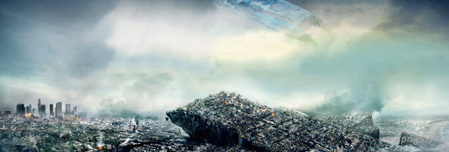 末日背景背景高清大图-末日背景城市建筑