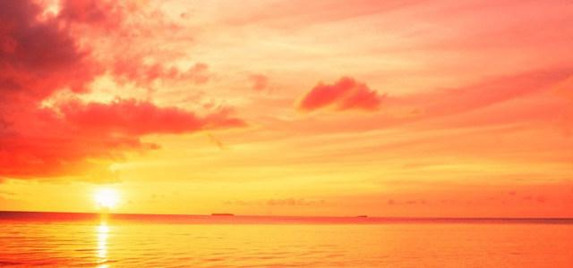 夕阳天空大海背景高清背景图片素材下载