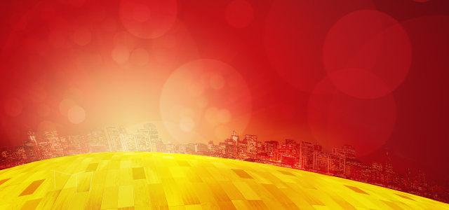 红色商务背景