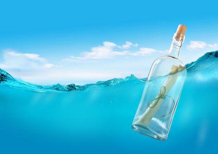 漂流瓶水面背景
