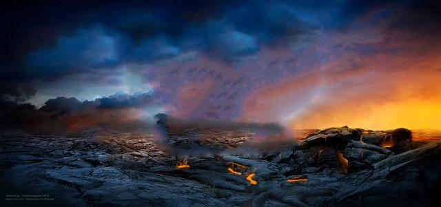 火山现场背景高清背景图片素材下载