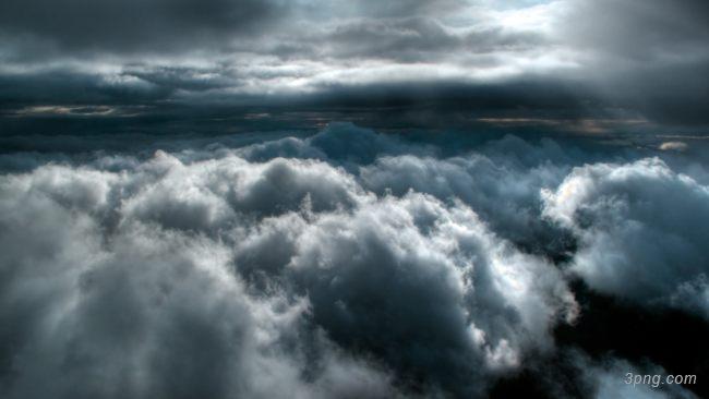 云层之上背景高清大图-云层背景自然/风光