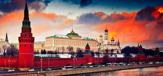 夕阳下的建筑高清背景图片素材下载