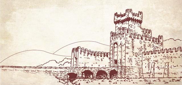 古堡素描背景