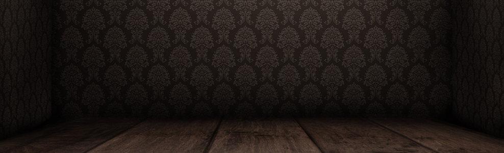 电商黑色花纹背景banner