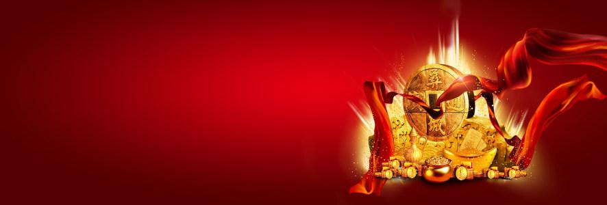 喜庆金融投资金币红绸高清背景图片素材下载
