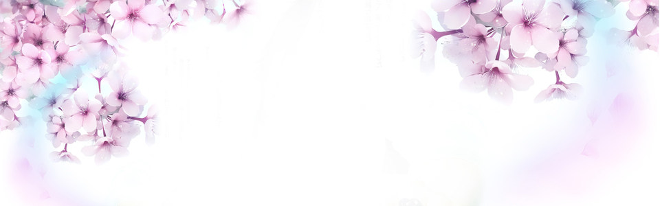 清新唯美紫色花朵海报背景