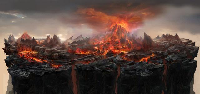 火山爆发背景