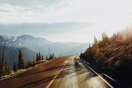 山区道路高清背景图片素材下载