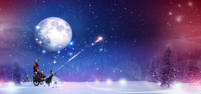 紫色梦幻冬季背景