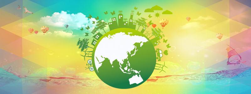 绿色创意地球背景