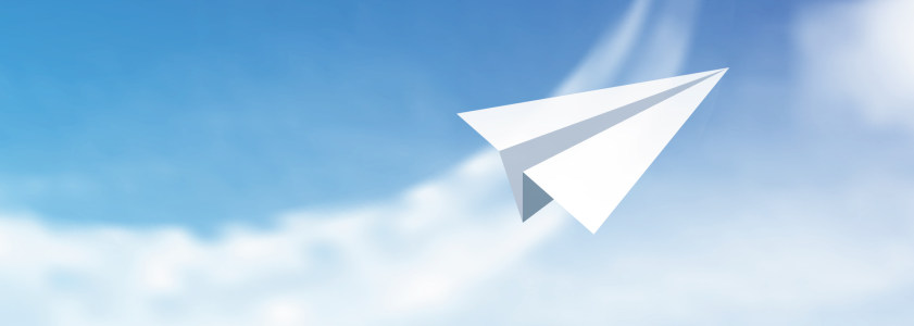 纸飞机背景banner