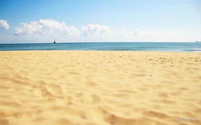 海滩背景背景高清大图-海滩背景自然/风光