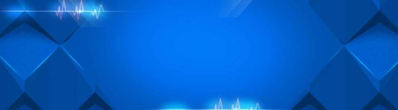 蓝色化妆品科技背景