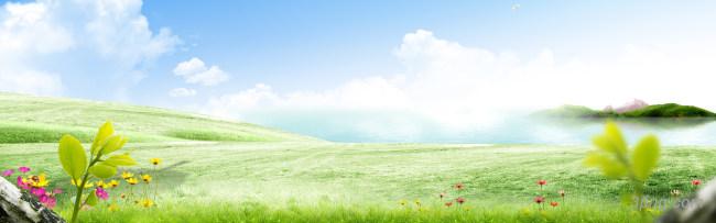 大气简约唯美湖畔海报背景背景高清大图-湖畔背景淡雅/清新/唯美