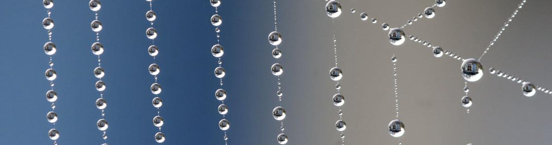 水珠摄影banner壁纸