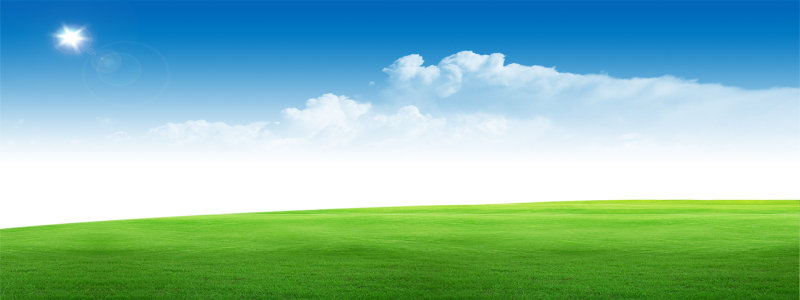 蓝天草地背景