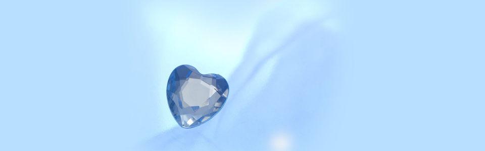 心形钻石渐变海报背景