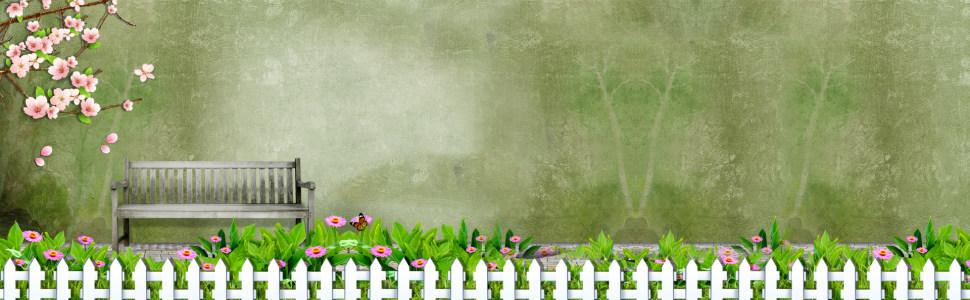 女鞋绿色质感背景banner