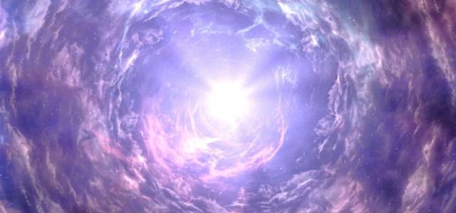 紫色梦幻云层星空