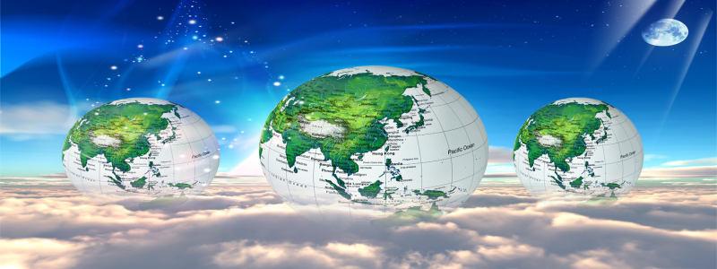 绿色地球背景