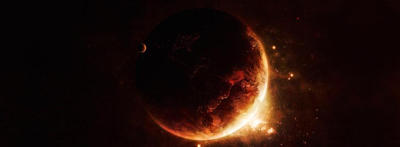 黑色宇宙地球背景banner
