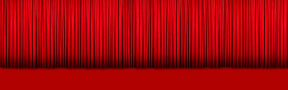 红色卷帘背景