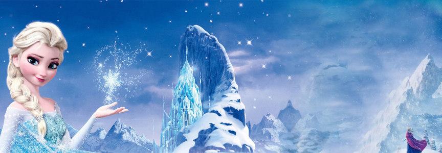 冰雪奇缘背景海报高清背景图片素材下载