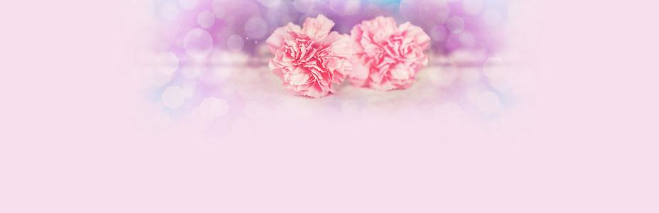 粉色温馨背景banner高清背景图片素材下载