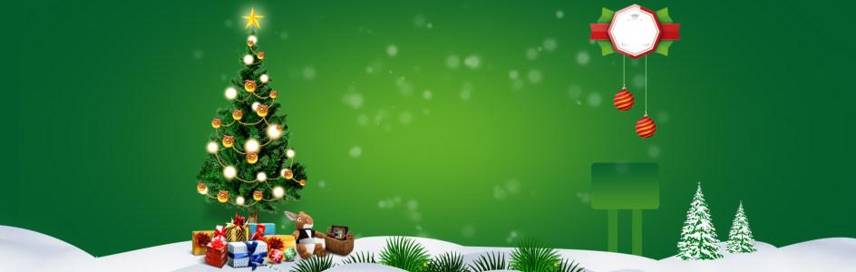 电商圣诞节圣诞树背景banner高清背景图片素材下载