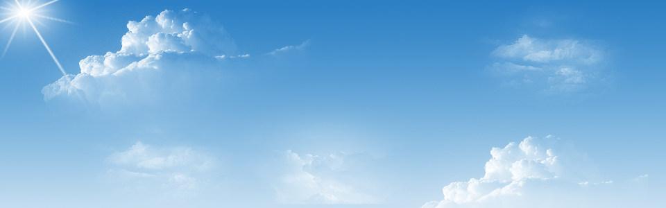 蓝色天空白云淘宝海报背景高清背景图片素材下载