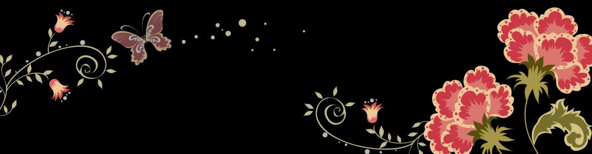 浪漫花朵背景图