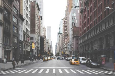 美国城市街头高清背景图片素材下载