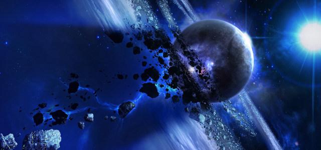 科幻太空星球陨石高清背景图片素材下载