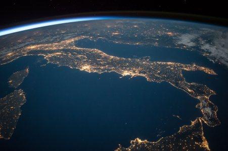 国际空间站太空地球背景