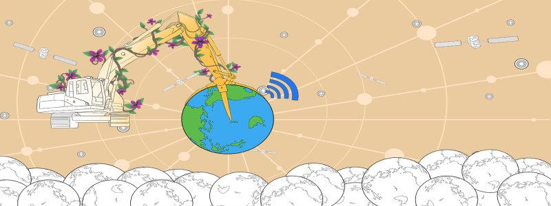 卡通地球背景