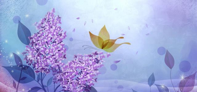 紫色浪漫温馨背景