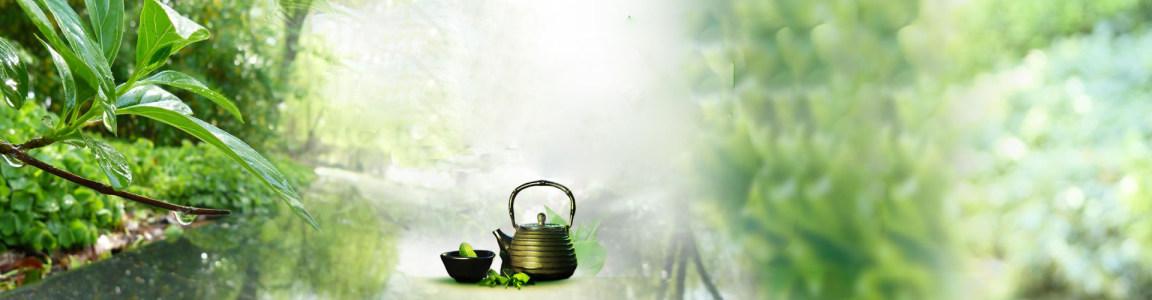 唯美茶叶文化网站PSD分层高清背景图片素材下载