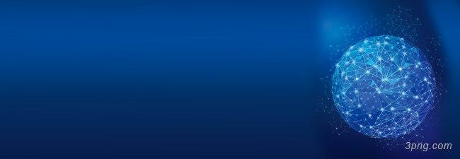 蓝色科技几何球光束背景banner背景高清大图-光束背景扁平/渐变/几何