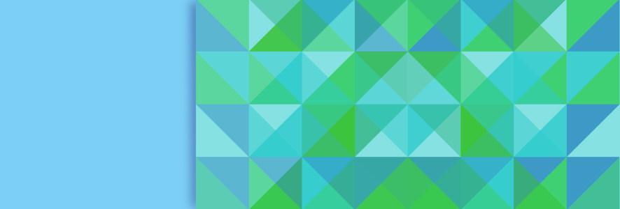 蓝绿彩色拼接方形banner高清背景图片素材下载