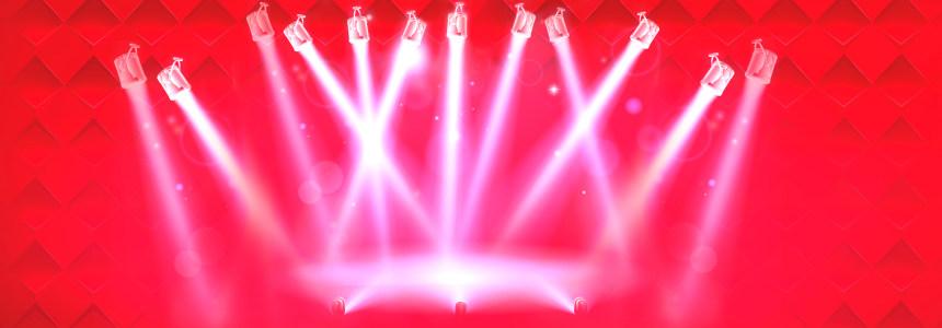 红色灯光背景