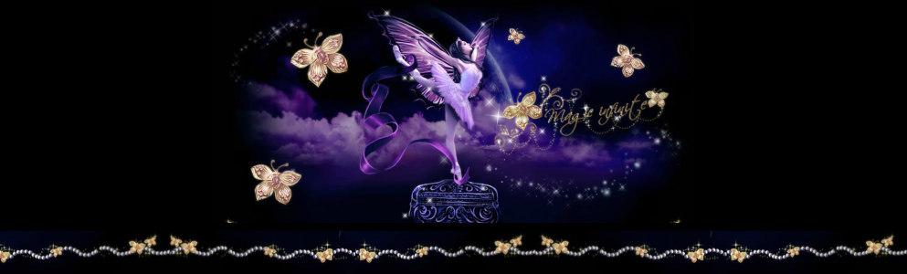 紫色芭蕾梦想背景banner