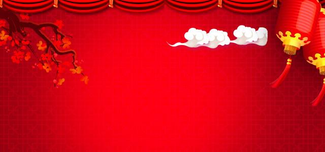 红色喜庆梅花背景