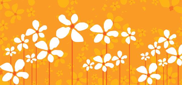 简约花朵背景
