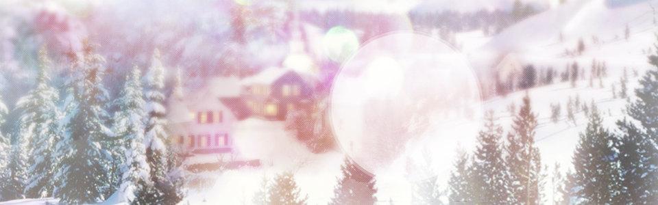 冬天背景唯美banner壁纸高清背景图片素材下载