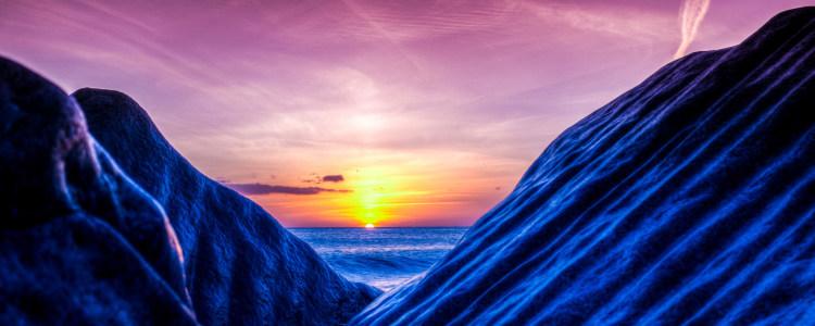海洋夕阳背景设计下载